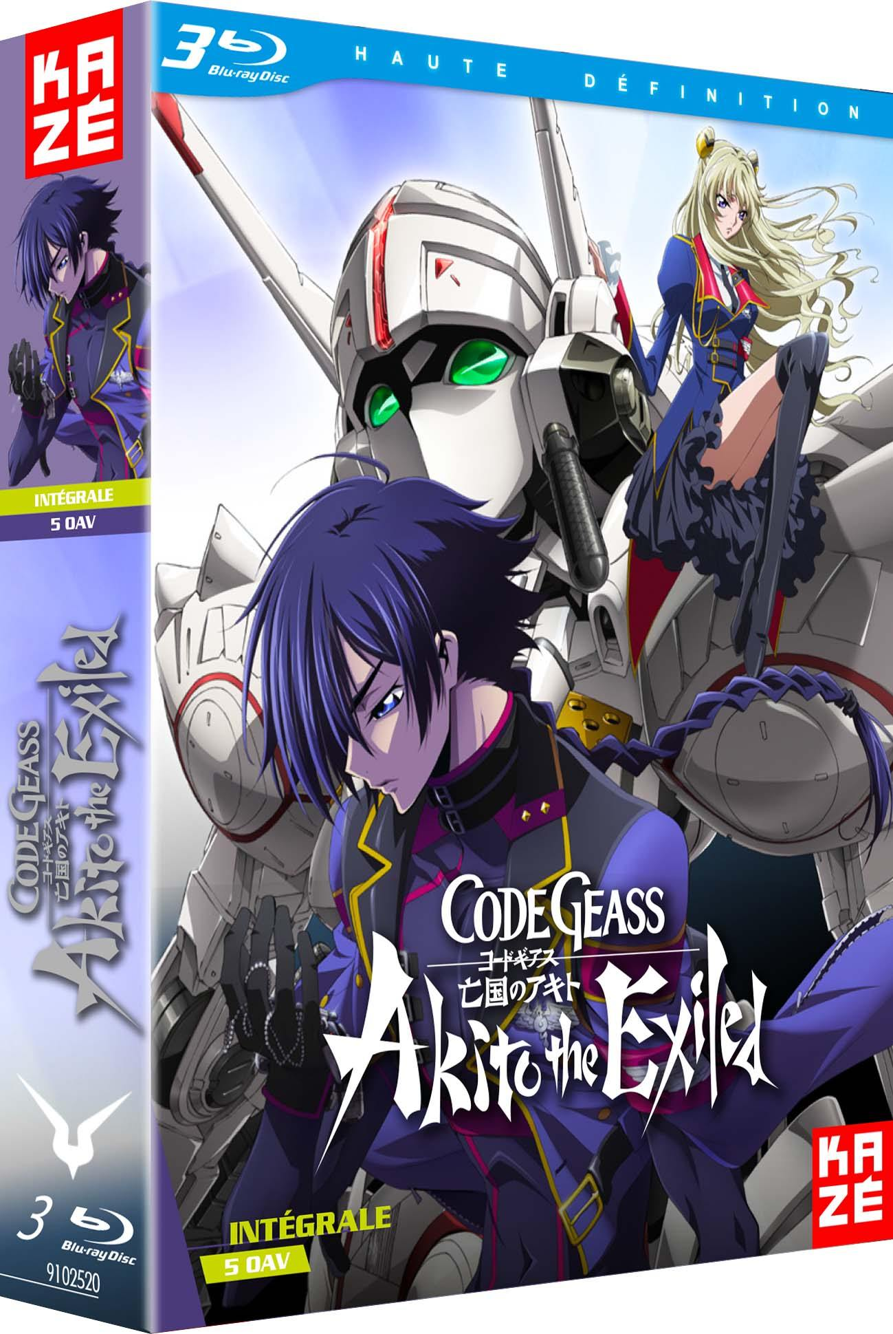 Code geass akito - the exiled - integrale 5 oav - 3 blu-ray