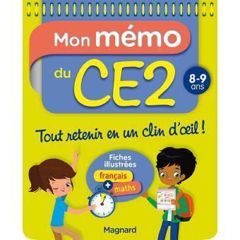 Livre Mon Memo Du Ce2 Ecrit Par Morgane Ceard Magnard 9782210756007