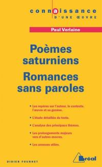Poèmes saturniens, Romances sans paroles, Paul Verlaine