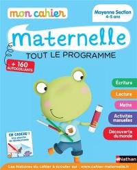 Mon cahier maternelle, moyenne section 4-5 ans
