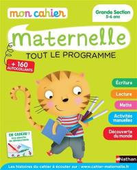 Mon cahier maternelle, grande section 5-6 ans