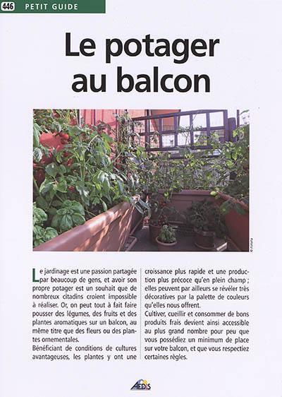 Livre Le Potager Au Balcon Ecrit Par Jean Marie Polese Aedis