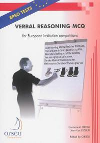 Verbal reasoning MQC for European institution competitions