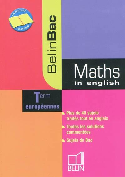 Maths in English, terminales européennes