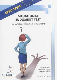 Situational judgment test of European institution competitions