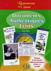 Documents authentiques écrits