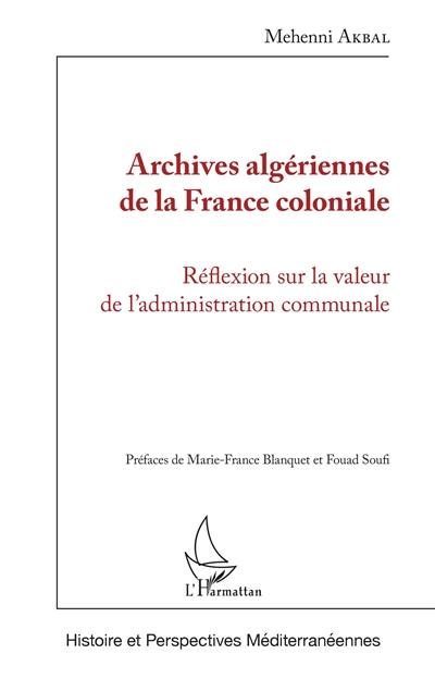 Archives algériennes de la France coloniale