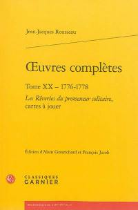 Oeuvres complètes. Volume 20, 1776-1778