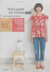 Livre : 23 modèles à coudre, Tuniques et robes. Volume 2, écrit par Yoshiko Tsukiori Hachette Pratique