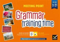 Meeting point, grammar training time, 1re, terminale, B1-B2
