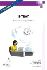 E-tray for European institutions competitions