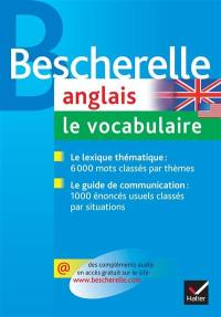 Anglais, le vocabulaire