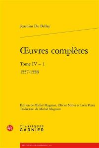 Oeuvres complètes. Volume 4-1, 1557-1558