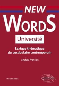 New words université