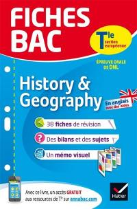 History & geography terminale, section européenne