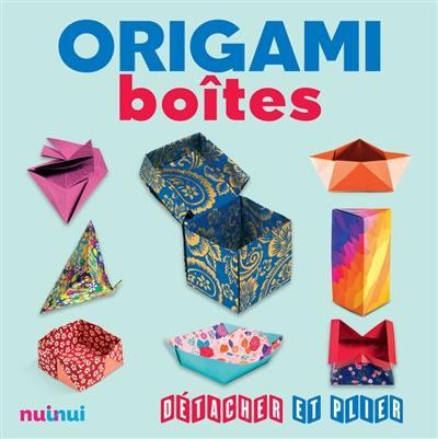 Livre Origami Boites Nuinui 9782889357369
