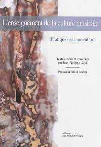 L'enseignement de la culture musicale