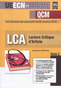 LCA, lecture critique d'article. Volume 2,