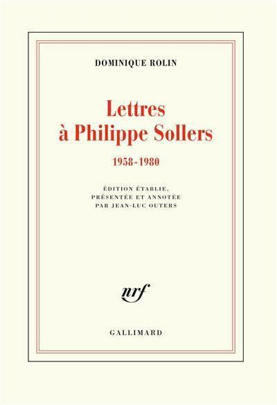 Lettres à Philippe Sollers