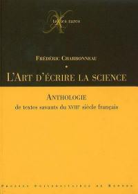 L'art d'écrire la science