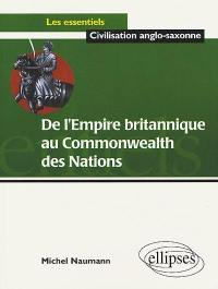 De l'Empire britannique au Commonwealth des nations