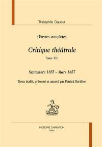 Section VI. Volume 13, Septembre 1855-mars 1857