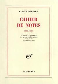 Cahier de notes 1850-1860