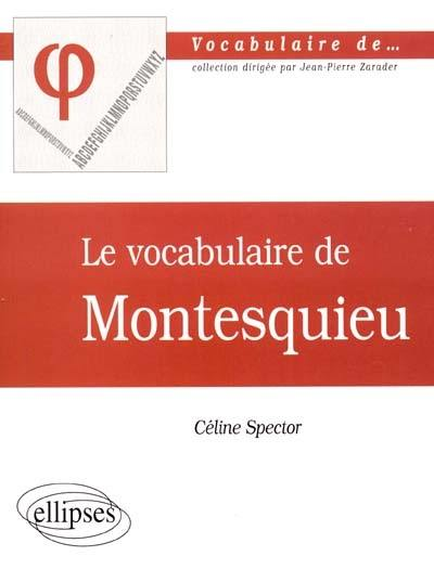 Le vocabulaire de Montesquieu