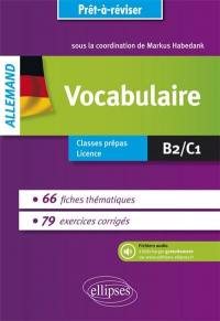 Allemand, vocabulaire