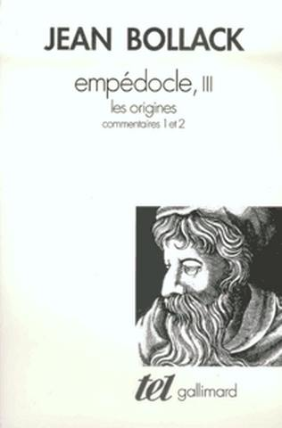 Empédocle. Volume 3, Les origines