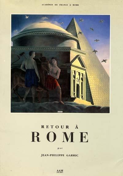 livre retour rome crit par jean philippe garric archives d 39 architecture moderne. Black Bedroom Furniture Sets. Home Design Ideas