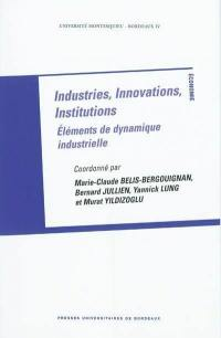 Industries, innovations, institutions