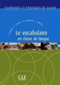 Le vocabulaire en classe de langue