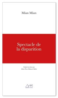 Spectacle de la disparition