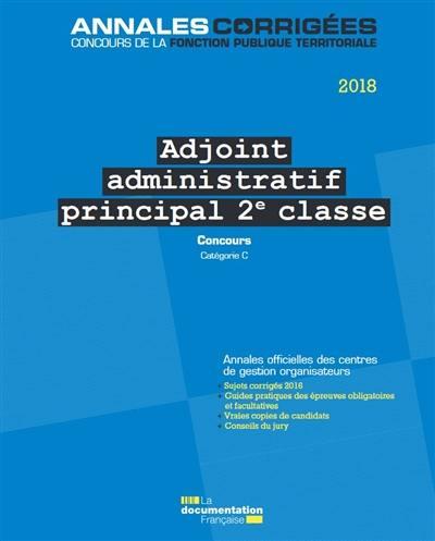 991dc12bb7c Livre   Adjoint administratif principal de 2e classe écrit par ...