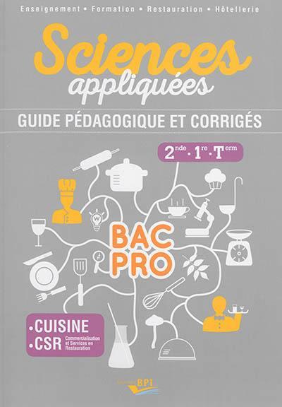 Livre sciences appliqu es 2de 1re terminale crit par - Cours sciences appliquees bac pro cuisine ...