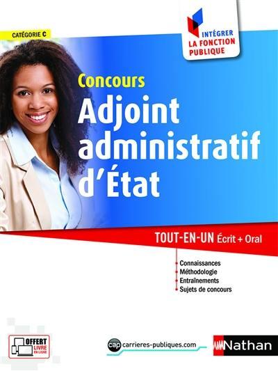 ba317bf0c90 Livre   Concours adjoint administratif d Etat - Nathan - 9782091649771