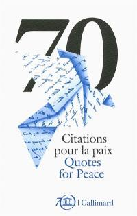 70 citations pour la paix
