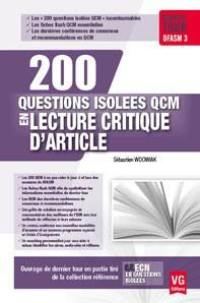 200 questions isolées QCM en lecture critique d'article