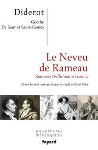 Le neveu de Rameau; Rameaus Neffe; Satire seconde