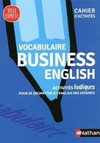 Vocabulaire business English