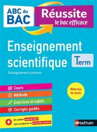 Enseignement scientifique terminale