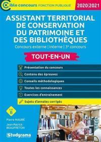 Assistant Territorial De Conservation Du Patrimoine Et Des Bibliotheques Ecrit Par Pierre Maube Et Jean Patrick Beaufreton Studyrama Livre