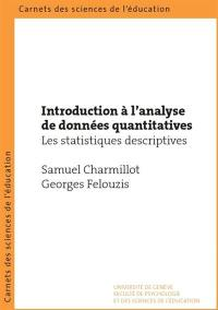 Introduction à l'analyse de données quantitatives