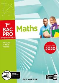 Maths, 1re bac pro, groupements A et B : programme 2020