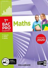 Maths, groupement C, 1re bac pro : programme 2020