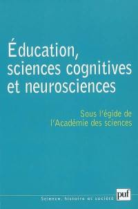 Education, sciences cognitives et neurosciences