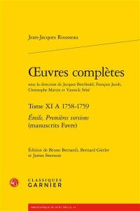 Oeuvres complètes. Volume 11 A, 1758-1759