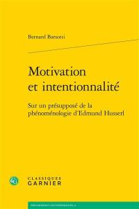 Motivation et intentionnalité